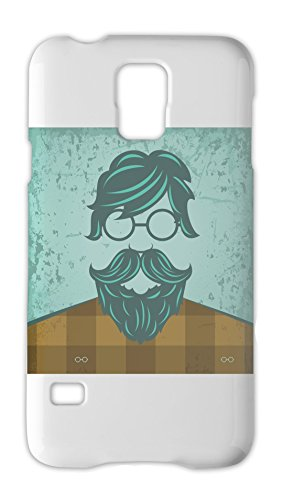 Wht Swag (Hipster With Moustache Illustration Samsung Galaxy S5 Plastic Case)