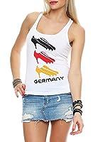 Damen Tank Top Deutschland Fanshirt EM WM Trikot High Heels