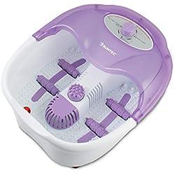 SUNTEC Thalasso pieds FMA-8656 comfort [Fonction infrarouge, massage vibrant, maintien de l'eau à température, 3x embouts de brosse, max. 80 W]