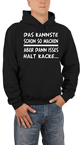 Touchlines Herren Kapuzenpullover Das Kannste So Machen. Schwarz (Black 13), Small (Herste Preisvergleich