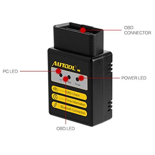 Lector de código de avería Bluetooth Autool c1 V1.5 OBD Escáner For E1M327 For Torque fallo de motor detector de código de diagnóstico OBD II de herramienta para el análisis automático de androide de pareja OBDII OBD 2