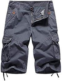 DELHITRADERSS® Men's (Dark Gray) Casual Cargo Shorts,Cotton Outdoor Wear Capri (SIZE-34)