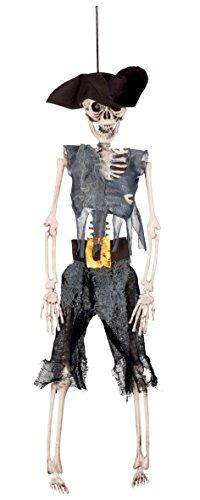 Boland 72091 - Deko-Figur Skelett Pirat, Sonstige (Skelett Kostüm Piraten)