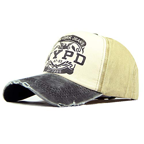 gewaschen Baseball Cap beschichtet Druck Hut Brief Sonnenhut Sonnenhut 7 56-62cm ()