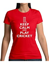 Keep Calm and Play Cricket - Womens T-Shirt - 11 Colours