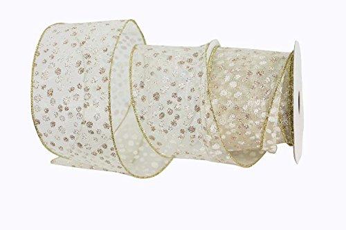 Renaissance 20006,3cm Elfenbeinfarben Sheer Dot Schleifenband (Renaissance-streifen)