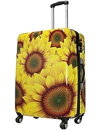 Koffer Hartschale Sunflower Sonnenblume Gelb Größe M Fa. Bowatex