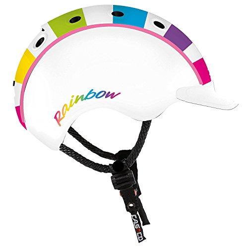 Casco Kinder Mini 2 Regenbogen Fahrradhelm, buntig, S
