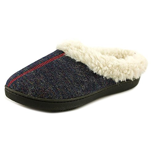 isotoner-french-terry-sherpa-donna-us-65-blu-pantofole