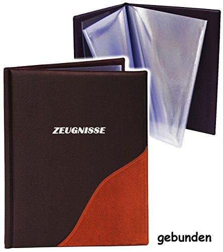 alles-meine.de GmbH A 4 - Zeugnismappe / Dokumentenmappe -  Zeugnisse  _  Samt & Velours Effekt - Terrakotta  - GEBUNDEN mit festen Seiten - Softcover - für Kinder und Erwach..