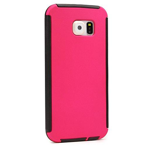 Urcover® Apple iPhone 6 Touch Case RUNDUM-SCHUTZ Hülle Schwarz Full View Cover Full Body Cover Beidseitige Schutz-Hülle Komplettschutz Schale Schutz für Vorder- & Rückseite Pink