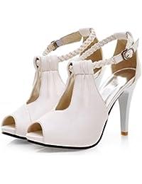 17d4d20c Sandalias Mujer/Sandalia con Pulsera para Mujer/La Niña expuesta Verano Sandalias  Boca de Pescado Zapatos de…
