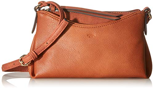 TOM TAILOR Umhängetasche Damen Avea, Braun (Cognac), 22x14x3 cm, TOM TAILOR Handtaschen, Taschen für Damen, klein
