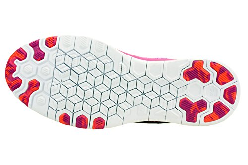 Nike advantage geometric crew t-shirt de tennis pour homme Fuchsia Flash/Hot Lava/Fuchsia Glow/White 500
