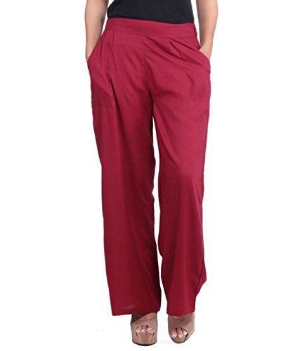 Pixie Formal Rayon Palazzo Plain Pants/Trousers in Combo for Women with 2...