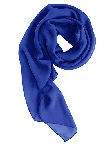Dresstells Chiffon Schal Stola für Abendkleider in Verschiedenen Farben Royal Blue 200cmX75cm