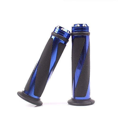 """ViZe 7/8\"""" 22mm Lenkergriffe Lenker Gleitschutz Gummi Fur Motorrad Street Bikes Quads Motiv Blau"""