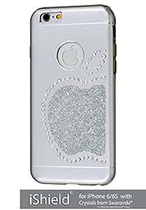 iShield® 6Light con CRYSTALS from Swarovski® Lusso Moderno Custodia collezione per iPhone 6/6S marca e modello: iShield® 6Light Swarovski Elements Custodia Re Mela argento argento iPhone 6/6S
