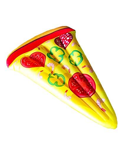Materassino gonfiabile a forma di fetta di pizza 180 x 120 cm - kamiustore