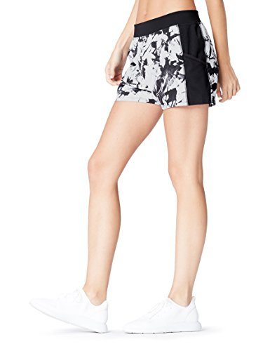 Activewear Shorts Damen, Schwarz (Glass Print/Black), 38 (Herstellergröße: Medium)