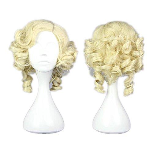 COSPLAZA Kurze Lockige Wellenförmige Frauen Abendkleid Party Perücke Cosplay Kostüm Haar - Haar Kostüm Perücke