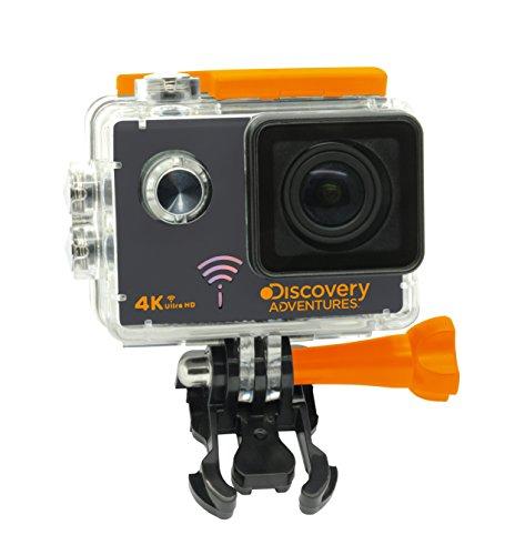 Discovery Adventures 4K Ultra-HD WLAN Action Kamera 12MP mit 2 Zoll LCD-Bildschirm, 3840x2160 Px Videoauflösung, 170° Betrachtungswinkel, Multifunktions-Verbindungsstücken und Batteriepack