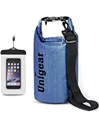 Unigear Dry Bag, 2L/5L/10L/20L/30L/40L, wasserdicht Taschen mit Handytasche und Gurte für Boot und Kajak, Angeln, Rafting, Schwimmen, Camping und Snowboarden, MEHRWEG