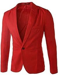 honeykoko Hombres Causal de la chaqueta de un botón Blazer Slim Fit vestido