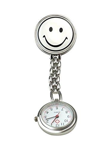 Schwestern-Uhr Smiley mit Clip