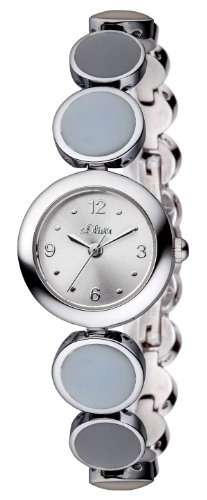 s.Oliver Damen-Armbanduhr XS Analog Quarz Edelstahl SO-2608-MQ