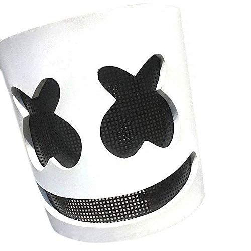 (LBAFS Marshmello DJ Maske Vollkopf Helm Halloween Cosplay Maske Bar Musik Requisiten)