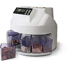 Safescan 1250 geldzählmaschine - automatischer münzzähler und sortierer für Euro Münzen