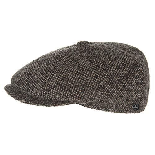Schirmmütze Damen/Herren | Flatcap Made in Italy | Mütze mit Schurwolle | melierte Wintermütze mit Innenfutter | Flat Cap Herbst/Winter | Schiebermütze braun M (56-57 cm) ()