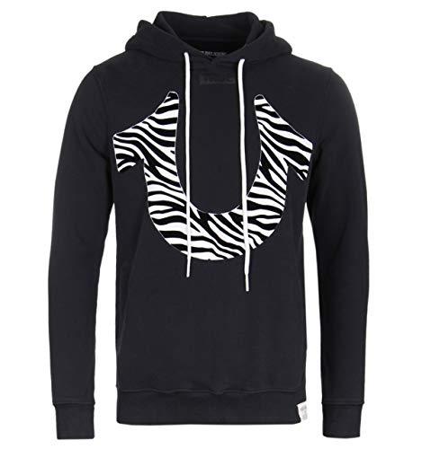 True Religion Zebra-Schwarzer Hoodie
