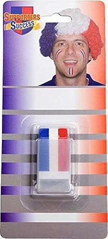 Crayon 3 en 1 stick make up tricolore(bleu-blanc-rouge)
