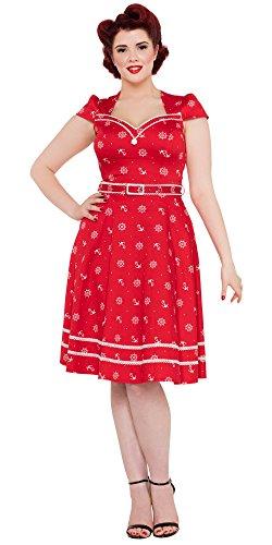 Voodoo Vixen Kleid LESLIE DRESS 8139 Rot XL