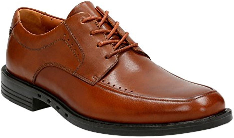 CLARKS Men's Un Bizley View Oxford Shoes Tan Leather 13