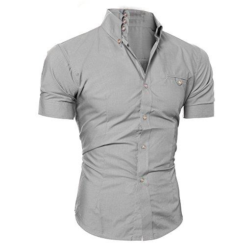 Mymyguoe Männer Poloshirts Kurz Tops mit Taste Pullover Slim Fit Running-Shirts für Herren Kurze Ärmel Hemden Fun-T-Shirts Freizeitshirt Sportswear Business Hemden Sweatshirts Outdoor T-Shirts