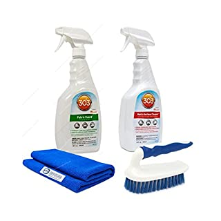 303 Fabric Guard 950ml + 303 Multi Surface Cleaner 950ml Profi-Cabriodach-Pflegeset mit Bürste und Reinigungstuch