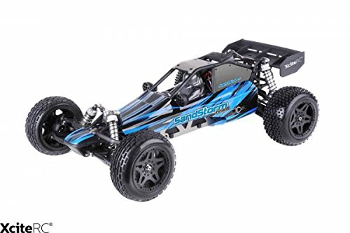 XciteRC 30205000 - Ferngesteuertes RC Auto SandStorm one8 - 2WD RTR Dune Buggy Brushed Modellauto, blau*