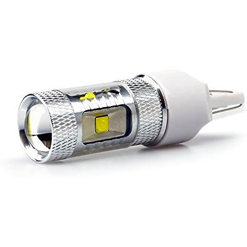 Lumiplux 7443 Bombilla W21 / 5W W3X16Q 12V 24V LED blanco luz del coche 6X5W del poder m¨¢s elevado de la luz de freno (Pack de 2)