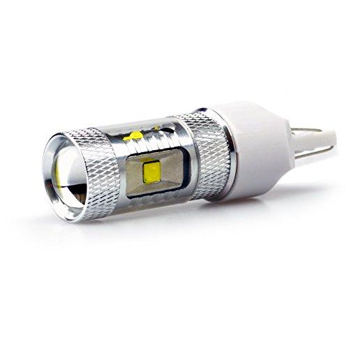 Lumiplux 7443 W21/5W W3X16Q 12V 24V Blanc LED Ampoule de Voiture 6X5W Haute Puissance for Clignotant Feu de Freinage Lumiššre de Stationnement Feu Arriššre (Pack de 2)