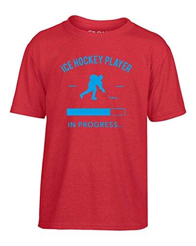 Cotton Island- T-shirt Bambino SP0085 Ice Hockey Player loading Maglietta, Taglia 5-6anni