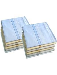 S4S Men's 100% Cotton Premium Collection Handkerchiefs - Pack of 12 (Multicolor_46X46 CM)