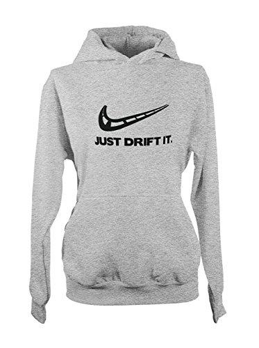 Just Drift It - Drift und Motorsport Fans Tuning Damen Hoodie Sweatshirt Grau Medium