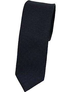 bugatti Seidenkrawatte dunkelblau TIE 7cm slimfit