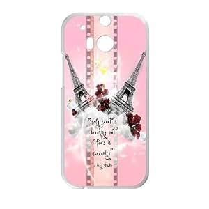 HTC One M8 Cases Cell phone Case Paris Eiffel Tower Xblgz Plastic Durable Cover