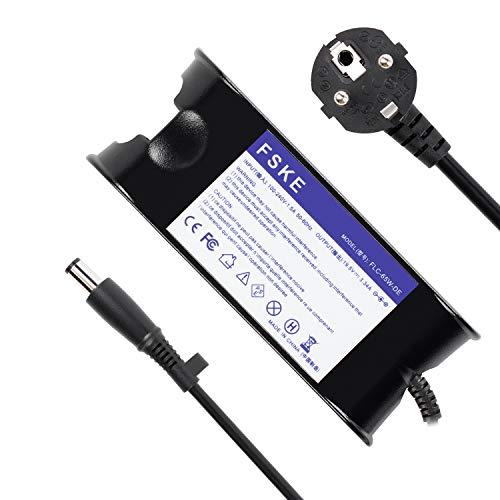 FSKE® 65W 19.5V 3.34A LA65NS0-00 Cargador de Laptop para DELL XPS 13 Inspiron 15 13 17 AC Adaptador,E5440 E7240 15 500 Notebook EUR Power Supply,7.4 * 5.0mm