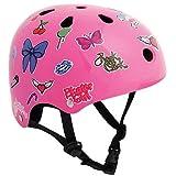 SFR Essentials - Casco para patinaje o ciclismo Stickers Pink Talla:49-52cm