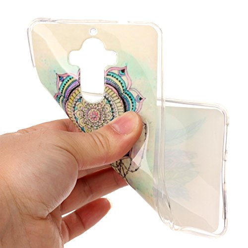 Qiaogle Téléphone Coque - Soft TPU Silicone Housse Coque Etui Case Cover pour Apple iPhone 7 (4.7 Pouce) - YH29 / Marbre YH19 / Dream Catcher + coloré un halo